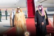 ولي العهد يستقبل الشيخ محمد بن راشد رئيس وفد الإمارات المشارك في القمة الخليجية