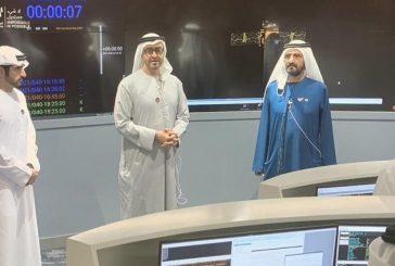 ردة فعل محمد بن زايد ومحمد بن راشد عقب وصول المسبار الإماراتي للمريخ