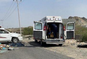 وفاة وإصابة 17 شخصاً في حـادث تصادم بين مركبتين بسبب السرعة الزائدة على طريق مكة - جدة