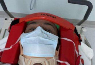يزيد الراجحي وملاحه يتعرضان لحادث في رالي الشرقية ونقله بمروحية إلى المستشفى