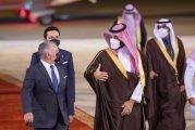 ولي العهد يستقبل ملك الأردن في مطار الملك خالد الدولي بالرياض