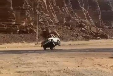 المرور يلقي القبض على قائد مركبة مارس التفحيط والترفيع في العلا
