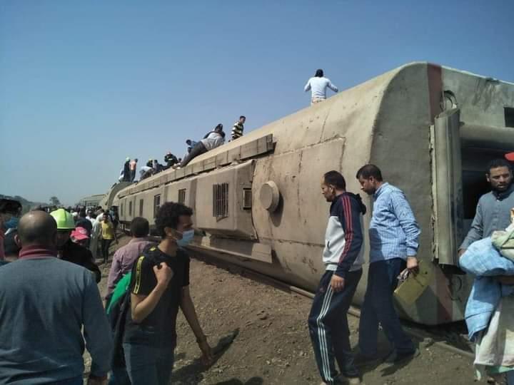 مصر: فيديو يوثّق اللحظات الأولى لحـادث انقلاب قطار طوخ وناجون يروون التفاصيل