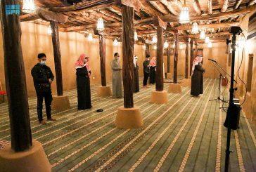 مسجد الأطاولة التاريخي بعد تطويره ضمن مشروع الأمير محمد بن سلمان لتأهيل المساجد التاريخية