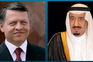خادم الحرمين يؤكد لملك الأردن مساندة المملكة لكافة الإجراءات التي يقوم بها للحفاظ على استقرار البلاد