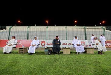 أمير عسير ومحمد عبده يحضران تدريبات ضمك لتحفيز اللاعبين قبل مواجهة التعاون