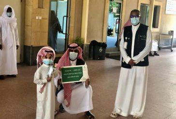التوعية الصحية  بشرق جدة  تعايد المصليّن بجامع الثنيان