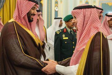 ولي العهد يؤدي واجب العزاء في المستشار الخاص بإمارة الرياض سحمي بن شويمي