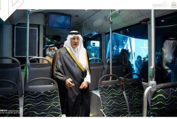 أمير مكة يدشن نموذج حافلات النقل العام بالعاصمة المقدسة