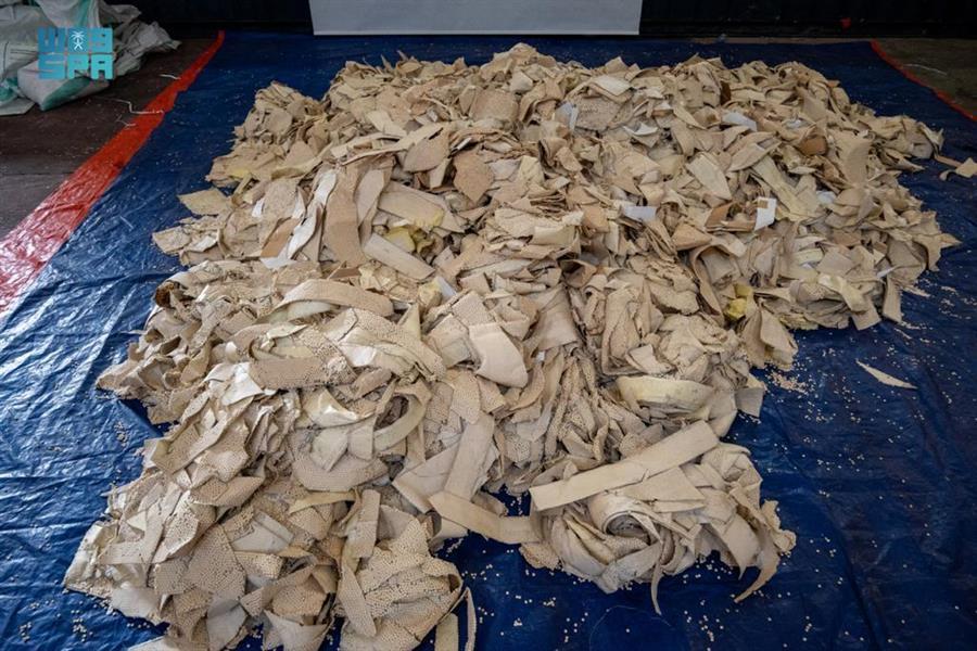 إحباط تهريب 14.4 مليون قرص إمفيتامين مخدر مخبأة داخل شحنة ألواح حديدية قادمة من لبنان