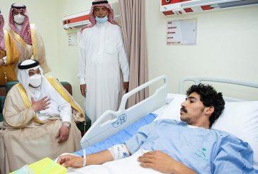 نائب أمير الرياض يزور الجندي السبيعي ويبلغه رسالة من خادم الحرمين وولي العهد