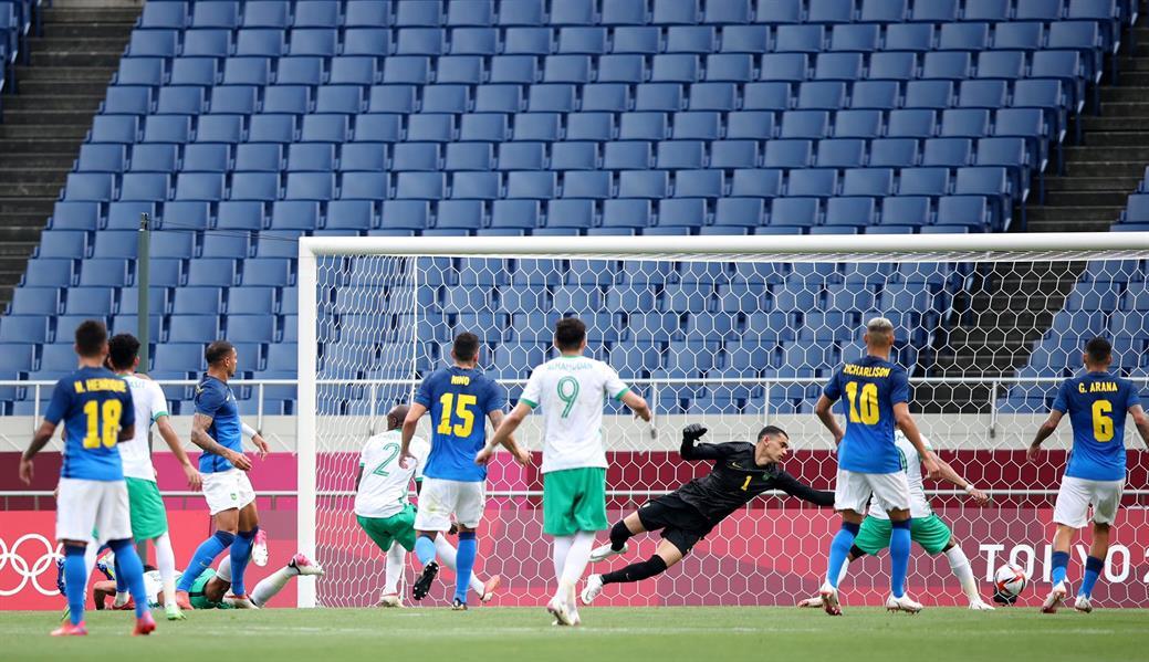 """""""الأخضر"""" يخسر أمام البرازيل ويُنهي مشواره رسميا في أولمبياد طوكيو 2020"""
