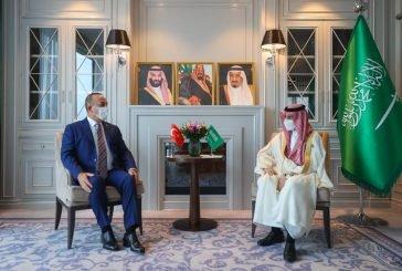 وزير الخارجية يلتقي نظيريه التركي والصيني