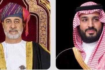 ولي العهد يتلقى اتصالاً هاتفياً من سلطان عمان عبّر فيه عن شكره على حفاوة استقباله خلال زيارته
