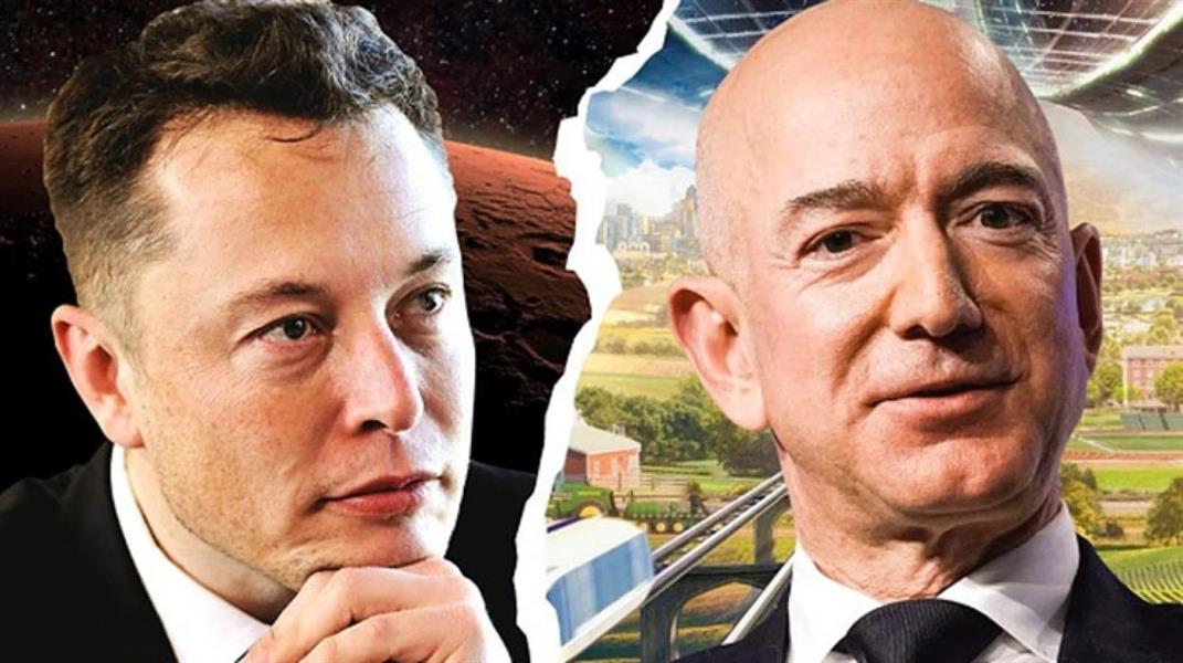 """""""ماسك"""" يسخر من رحلة بيزوس للفضاء والتي تستغرق 11 دقيقة فقط صراع المليارديرات"""