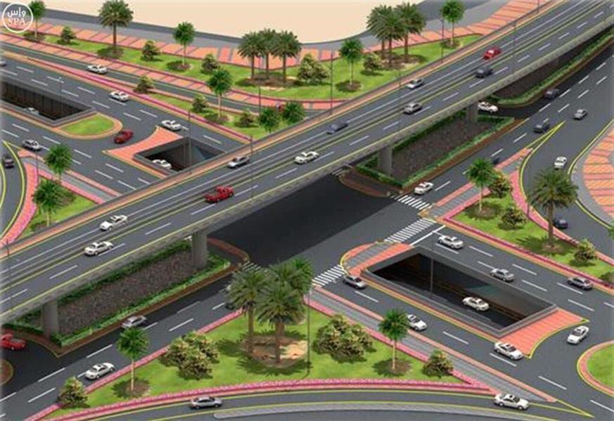 """""""أمانة جدة"""" : تأجيل أعمال تركيب جسر المشاة بطريق الملك عبدالعزيز لأسباب فنية"""