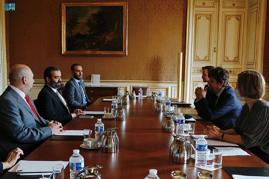 """تعاون """"سعودي"""" """"فرنسي"""" في مجالات الاقتصاد الرقمي واقتصاد الفضاء والابتكار"""