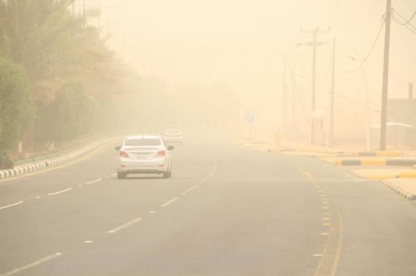 """""""أمن الطرق"""" يحذر قائدي المركبات بنجران من هبوب موجة غبارية"""