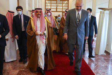 رئيس وزراء ألبانيا يستقبل الأمير فيصل بن فرحان ويعقدان جلسة مباحثات رسمية