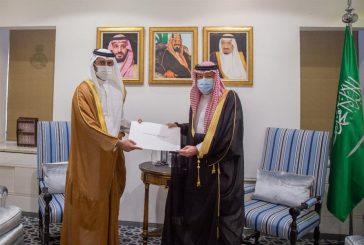 نائب وزير الخارجية يستقبل سفير قطر ويتسلم نسخة من أوراق اعتماده