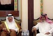 الأميران سلطان بن سلمان ومتعب بن عبد الله وعدد من الأمراء يقدمون التعازي في وفاة بداح الفغم