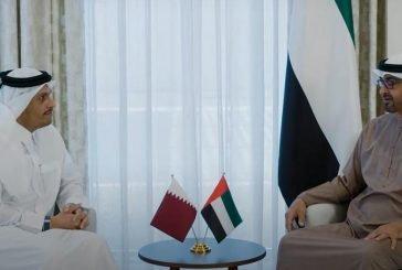 ولي عهد أبو ظبي يستقبل وزير الخارجية القطري ويبحثان سبل تعزيز العلاقات بين البلدين